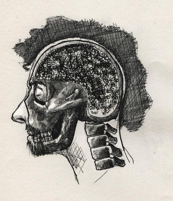 redmer hoekstra 2009 1 schedel zelfportret