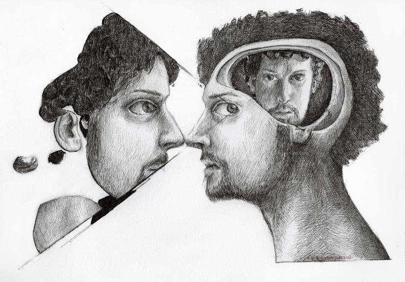 redmer hoekstra 2009 32 zelfportret spiegel
