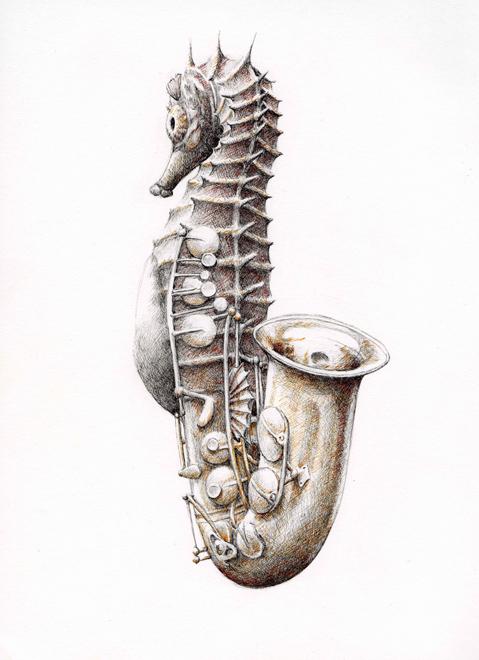 redmer hoekstra 2009 38 zeepaardje saxofoon