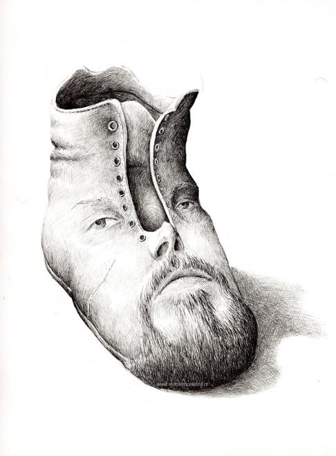 redmer hoekstra 2010 16 zelfportret schoen