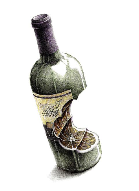 redmer hoekstra 2012 18 wijnfles