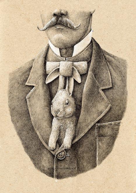 redmer hoekstra 2012 34 konijn stropdas