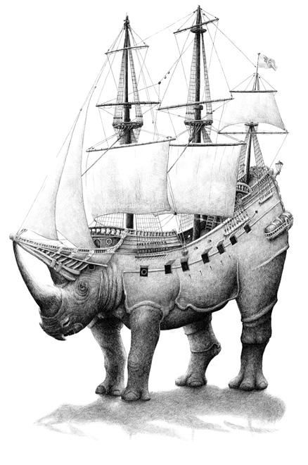 redmer hoekstra 2012 4 neushoorn schip